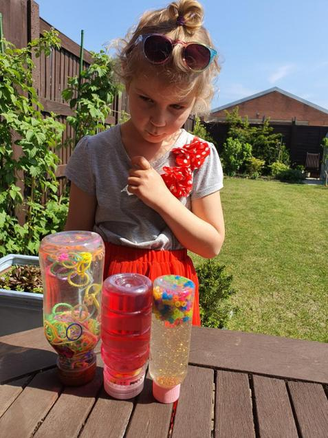 Ania mixing craft and science - fab!