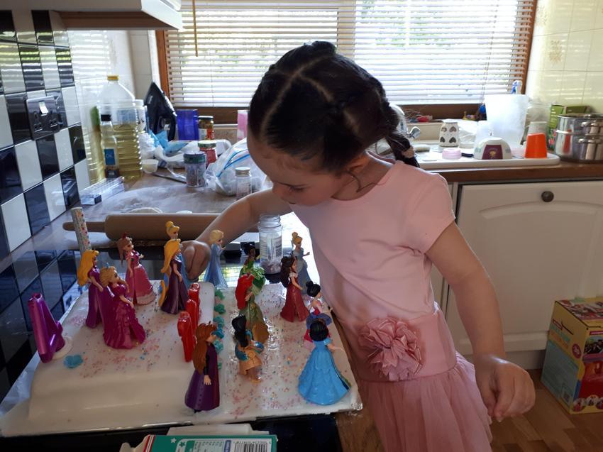 Zoe's Birthday princesses.