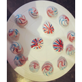 Red, white and blue meringues for VE Day