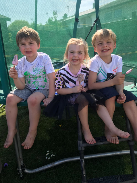 Yummy ice-creams in the sunshine!