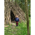 Theo found a tipi on his walk