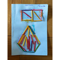 Charis used matchsticks for her shape picture.