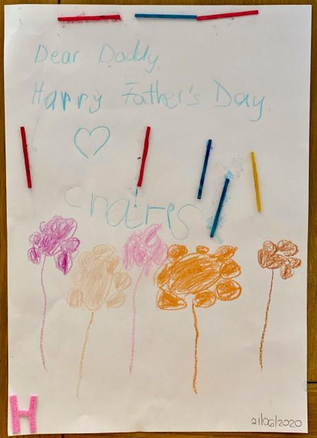 A super Father's Day card Charis!