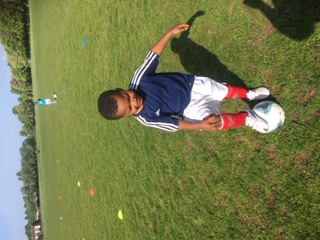 Agozie - you look very smart in your football kit!