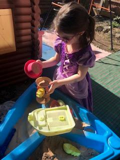 Zoe is enjoying the sunshine.
