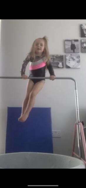 Gymnastics time on the bar!
