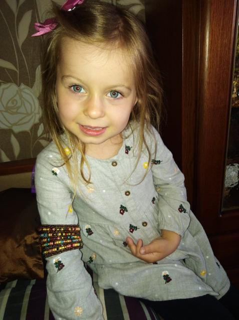 Anika is wearing a beautiful bracelet!