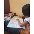 Thenuki colouring a lovely picture