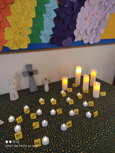 A candle is lit for each class