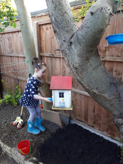 Zoe's colourful bird house.
