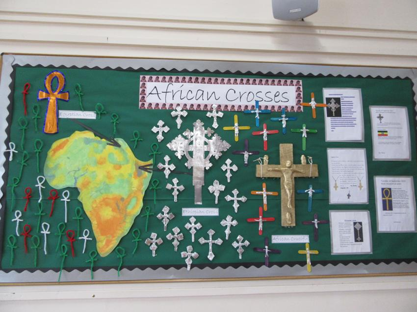 African Crosses Display Board