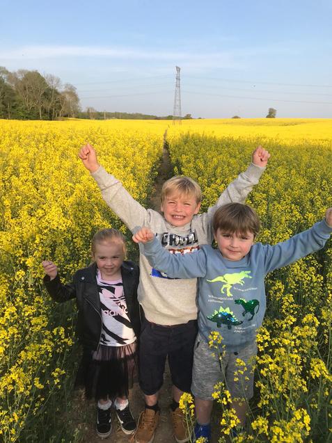 Did you enjoy your walk in the fields Scarlett?