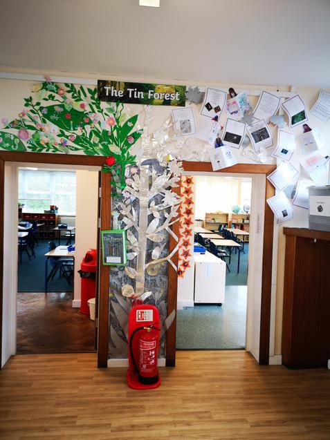 Year 5 Tin Forest Display