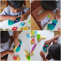 Lots of playdough models