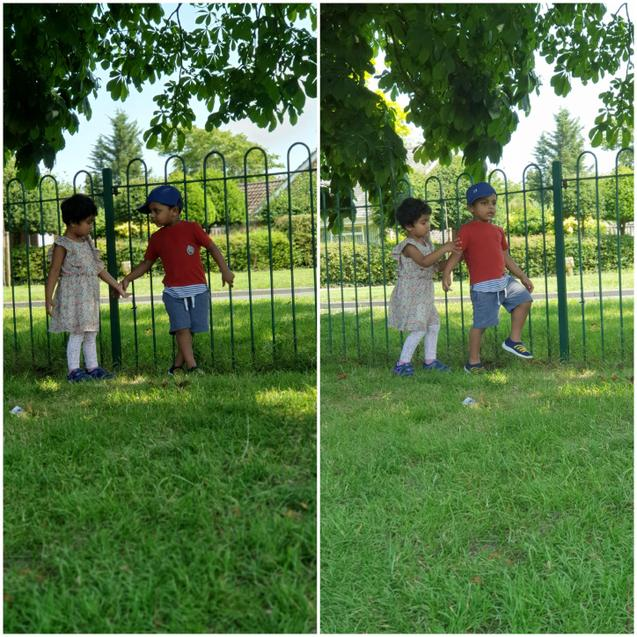Riyon met up with Cecelia in the park