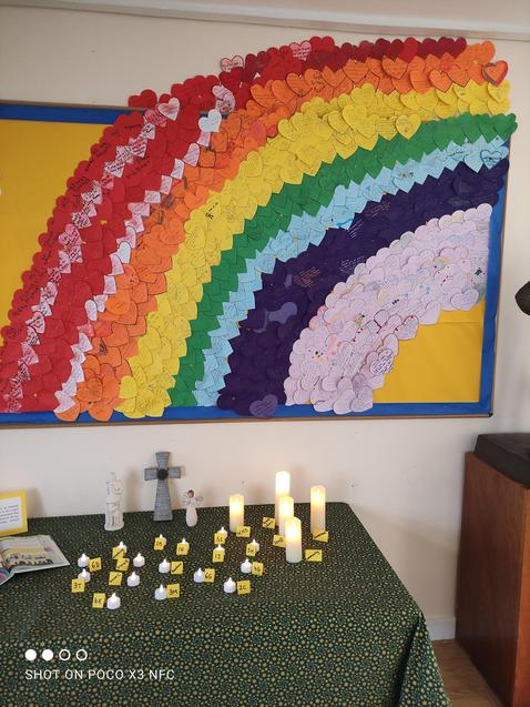 Each heart is a prayer from every child in our school