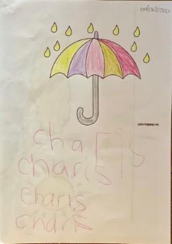 A colourful umbrella Charis!