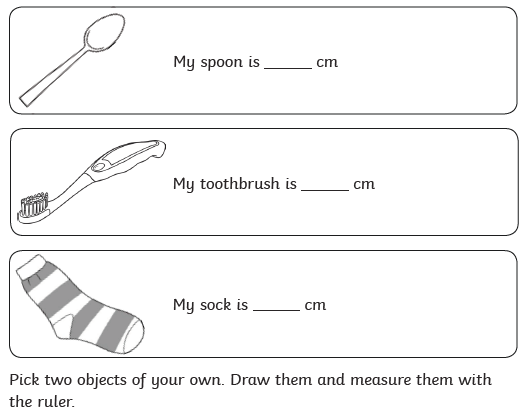 Have a go at this too.  Find these items in your house and measure them with a ruler.