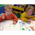 Reception joining in on the Art Club fun!