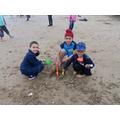 We built sandcastles together
