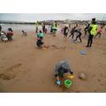 Making sand-castles