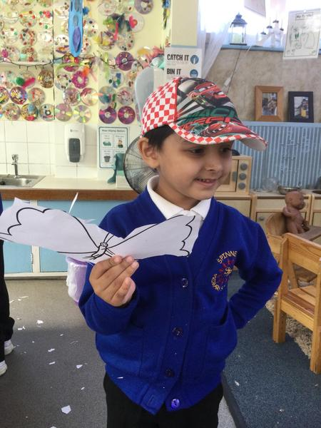 Abdul-Ahad enjoys cutting his butterfly.