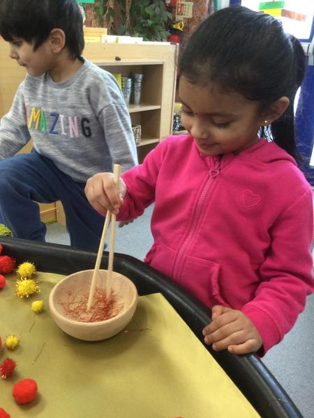 Aayushi makes noodles