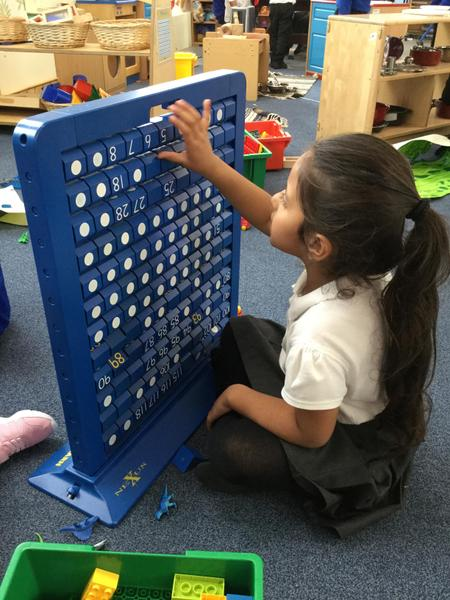 Gurleen explores numbers and practices counting