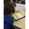 Humaira explores with writing words