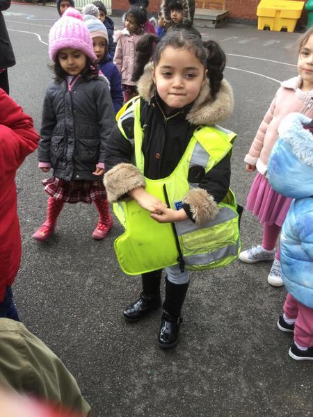 Raghad loves the jacket!
