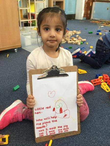 Amirah draws and retells the story
