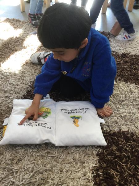 Pritam uses a special book.