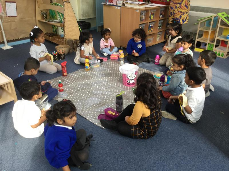 We learn to find our own snack and sit together
