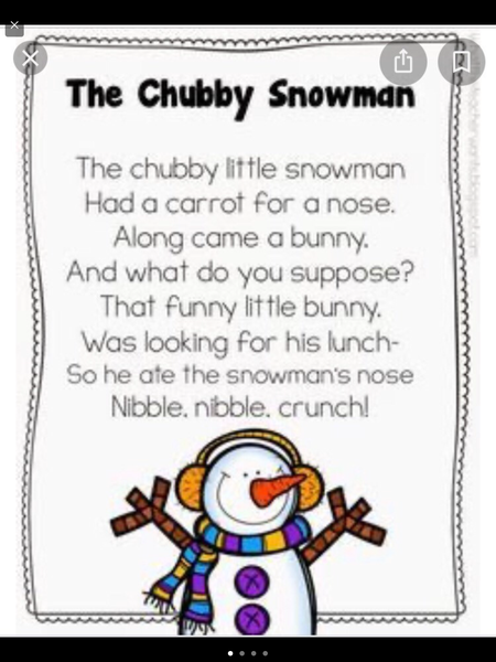 We learn a winter poem