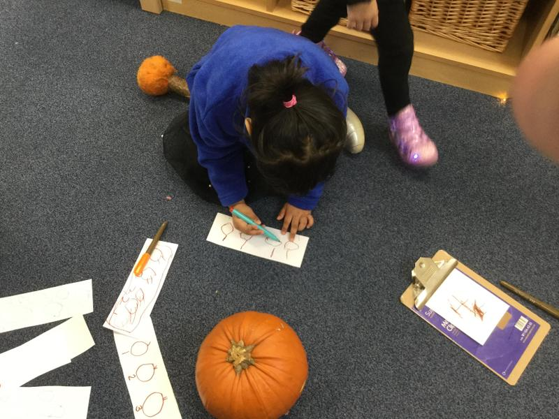We can draw pumpkins