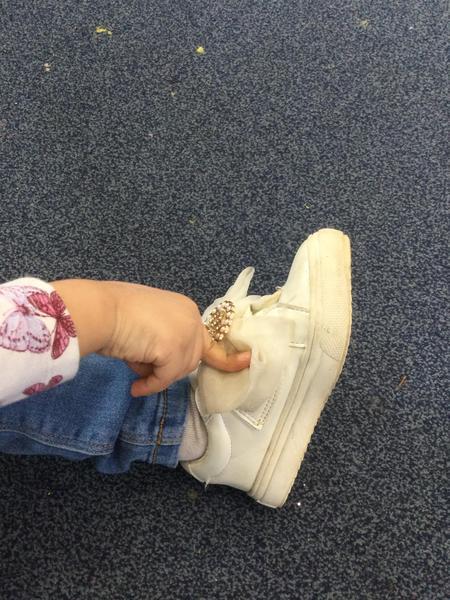 I got a dot on my shoe.