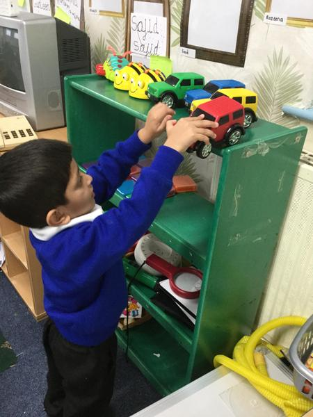 Ayan demonstrates how to tidy up the class