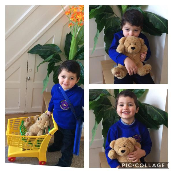 Thank you Ameen for sharing your special teddy with us. 😀