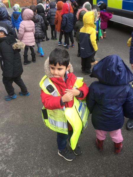 I like my police jacket Saad