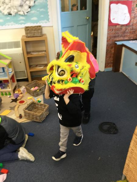 We have a dragon dance