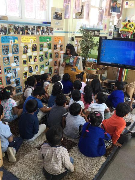 Mrs Kahlon reads us the story