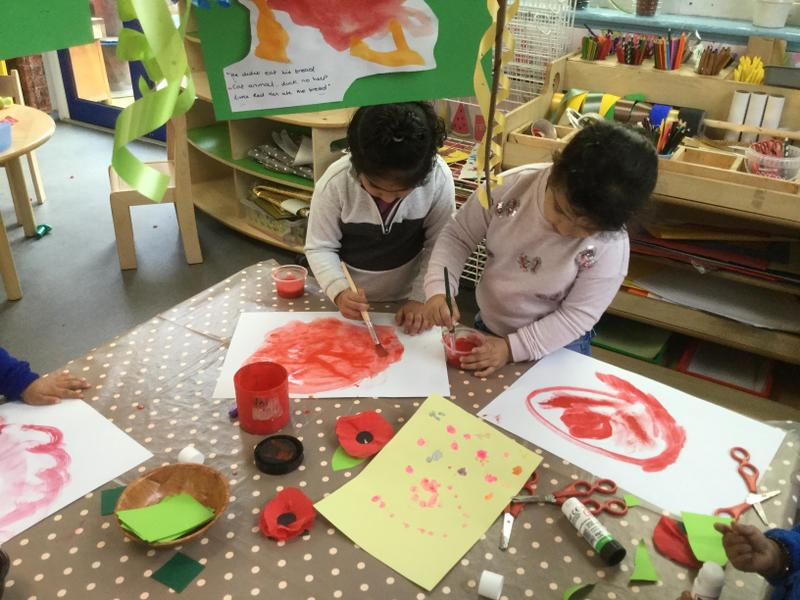 We paint poppies