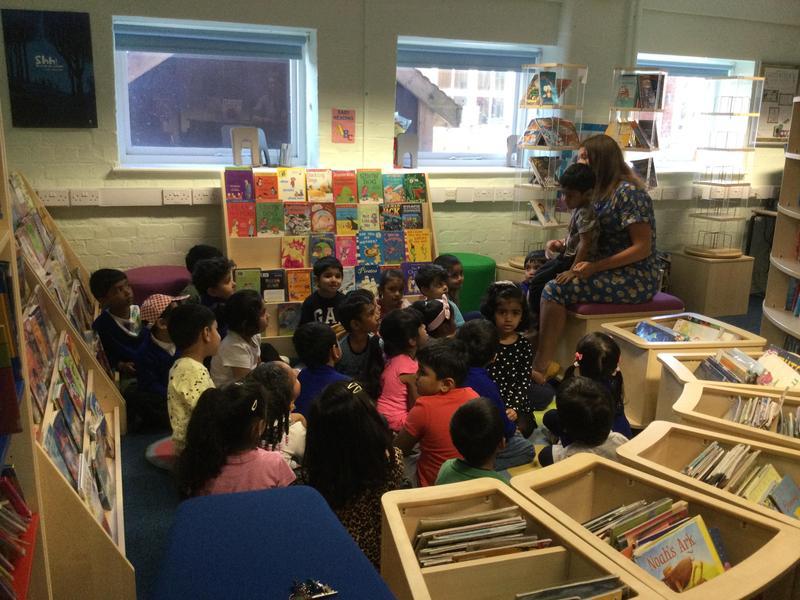 Mrs Bodle reads us a lovely story.