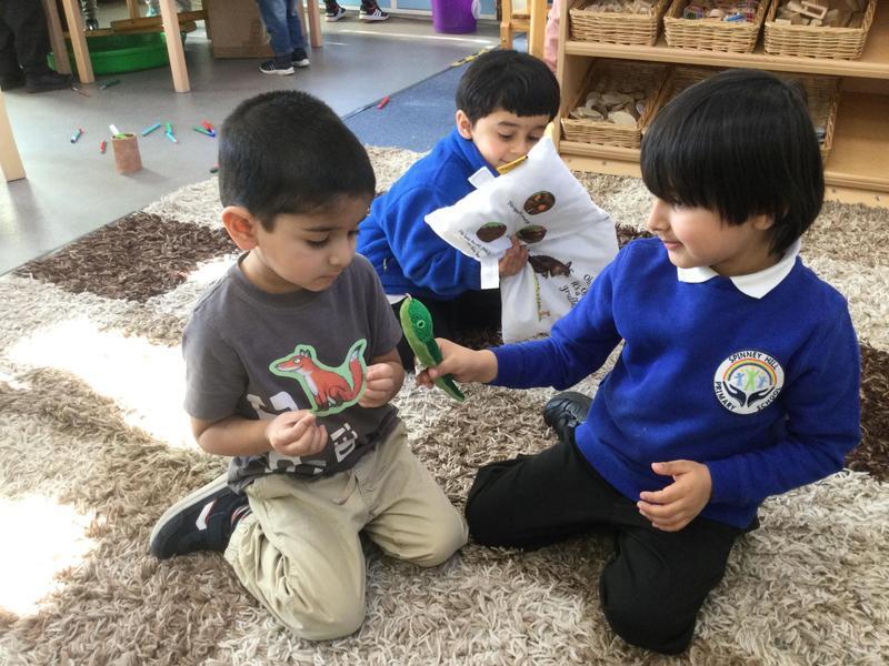 Farhan and AbdulAhad use puppets .
