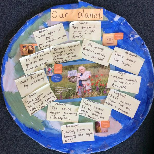 At home talk about how you could help to look after our precious planet.