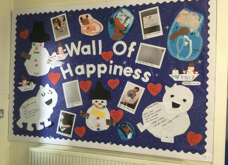 We all help keep in touch with our wall of happiness