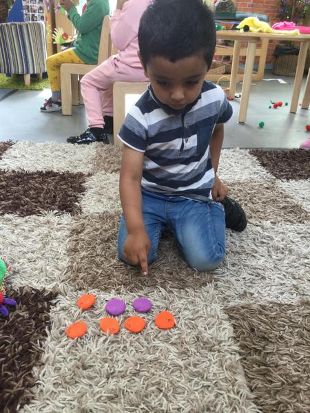 Rayhan counts oranges and plums altogether