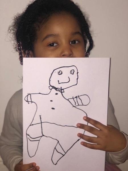 Amira draws at home too