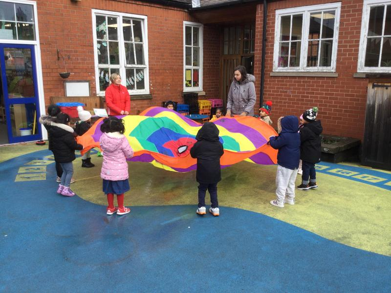 We learn to hold the parachute