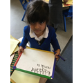 Great practise at writing d's
